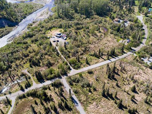 4.66 Acres With Deep Creek River : Ninilchik : Kenai Peninsula Borough : Alaska