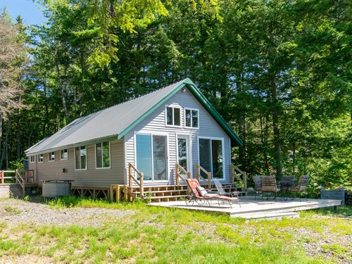 Lakefront Camp Pebble Beach Maine : Springfield : Washington County : Maine