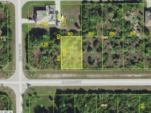 Great Port Charlotte Lot to Build : Port Charlotte : Charlotte County : Florida
