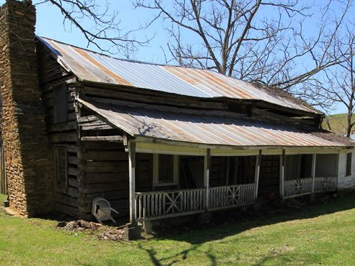 14.7 Acres Historic Log Structure : Independence : Grayson County : Virginia
