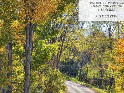 3.81 Acres In Adams County : Peebles : Adams County : Ohio