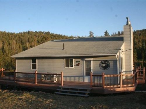 Colorado Riverfront Mountain Home : Red Feather Lakes : Larimer County : Colorado