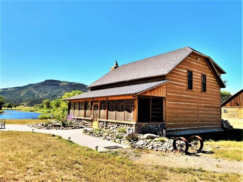 Historic Riverfront Homestead : South Fork : Rio Grande County : Colorado