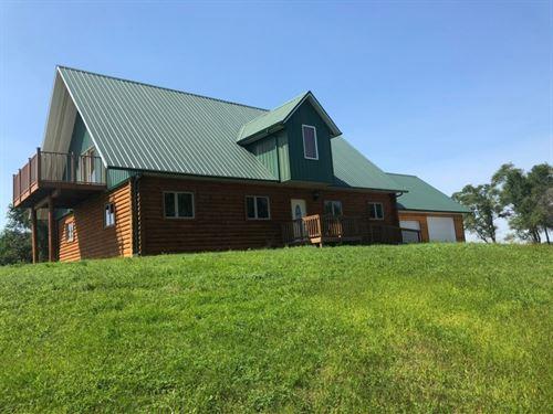 East Island Road Log Home And Acrea : Brady : Lincoln County : Nebraska
