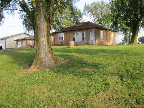 Mo Rural Home, Small Acres & Shop : Arbela : Scotland County : Missouri