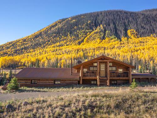 River, Mountains And Horses : Creede : Hinsdale County : Colorado