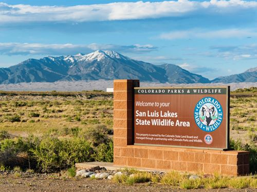 Land With Power & Frontage : Alamosa : Colorado