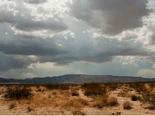 Desert Lot With Power : Twentynine Palms : San Bernardino County : California