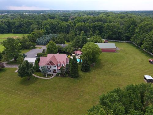 Custom Home With Barn, Riding Arena : Colts Neck : Monmouth County : New Jersey