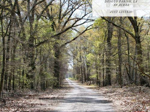 .64 Acres In Desoto Parish, LA : Frierson : De Soto Parish : Louisiana