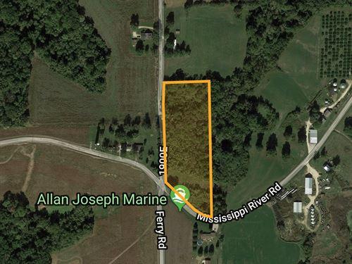 5 Acre Building Site : Golden Eagle : Calhoun County : Illinois