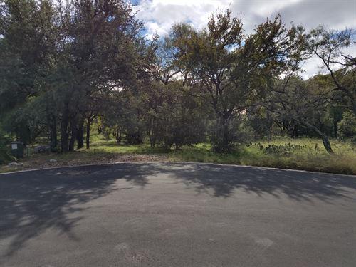 Large Wooded Lot Horseshoe Bay : Horseshoe Bay : Llano County : Texas