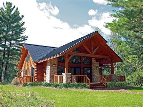 Waupaca Chain O' Lakes Log Home WI : Waupaca : Wisconsin