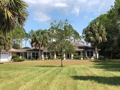 5Br/4Ba 2,865 Sq.' Split Plan Home : Trenton : Gilchrist County : Florida