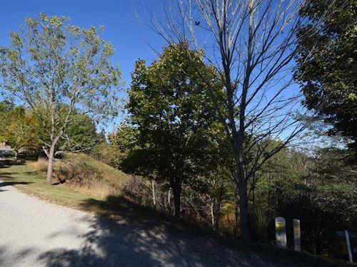 Great Building Lot Gated Log Cabin : Piney Creek : Alleghany County : North Carolina