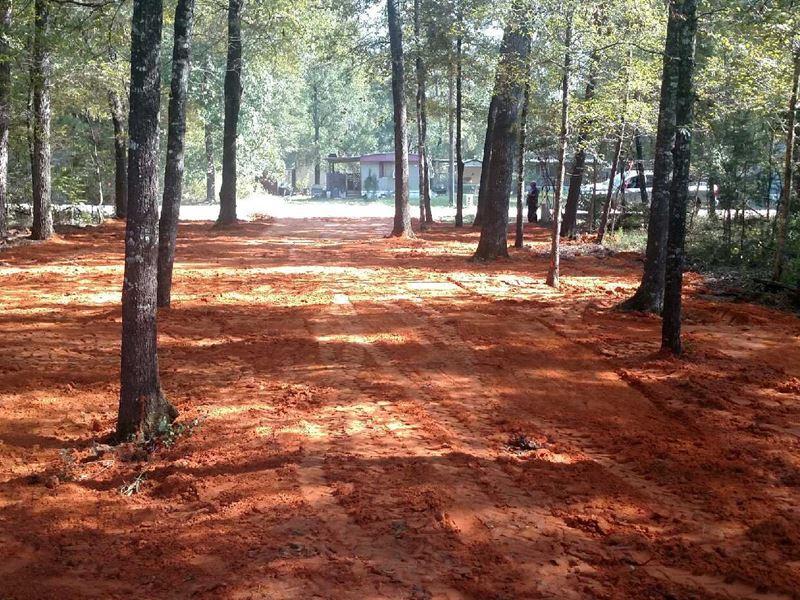 Premium Rv Lot Cleared With Culvert : Livingston : Polk County : Texas