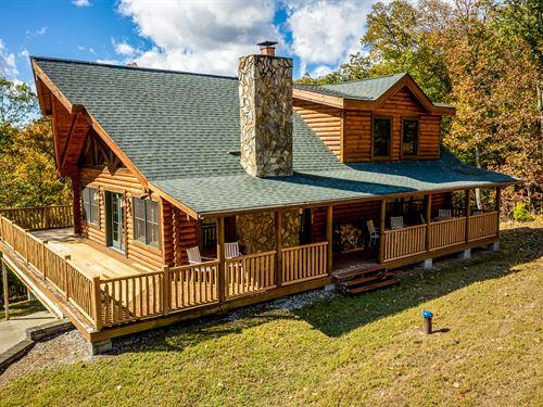 Log Home With Cherokee Lake Access : Mooresburg : Hawkins County : Tennessee
