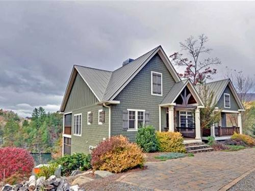 Lake Front Craftsman Style Mountai : Murphy : Cherokee County : North Carolina