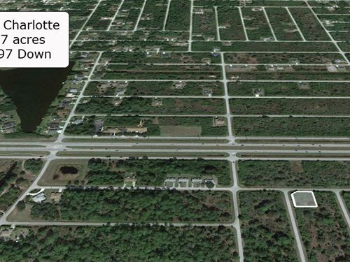 .37 Acre Corner Lot on Paved Road : Port Charlotte : Charlotte County : Florida