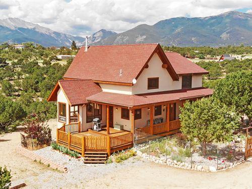Quality Home, Privacy, Views : Buena Vista : Chaffee County : Colorado