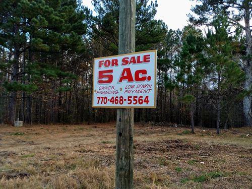 5 Ac Near Lake Oconee, Ez Finance : Greensboro : Greene County : Georgia