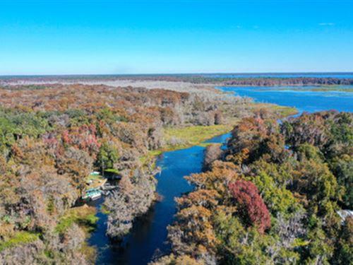Beautiful Property on Cross Creek : Island Grove : Alachua County : Florida