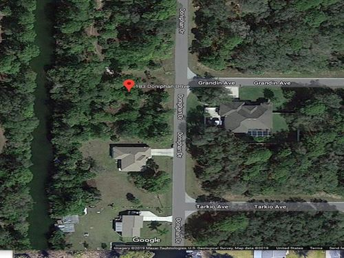 Canal Lot in Port Charlotte : Port Charlotte : Charlotte County : Florida