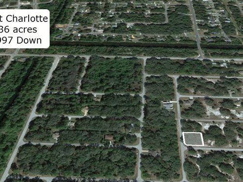 Exclusive .36 Acre Corner Lot : Port Charlotte : Charlotte County : Florida