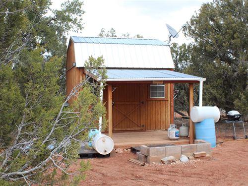 Rural Mountain Land Cabin Shell : Seligman : Yavapai County : Arizona