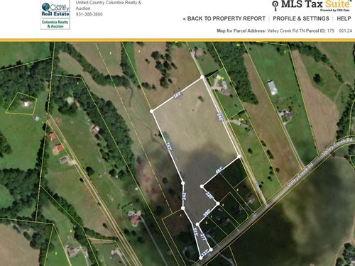 Build Your Dream Home 8 ac : Columbia : Maury County : Tennessee