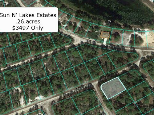 .26 Acre Corner Lot Near Lake Helen : Lake Placid : Highlands County : Florida