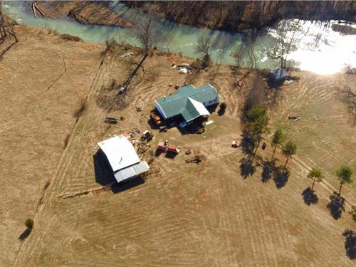 2 Homes 11 ac on The Mulberry River : Oark : Johnson County : Arkansas
