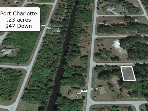 .23 Acre Partially Cleared Lot : Port Charlotte : Charlotte County : Florida