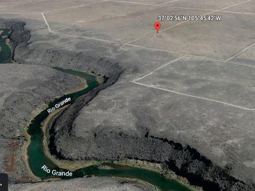 Only 1/4 Mile Walk to Rio Grande : Antonito : Costilla County : Colorado