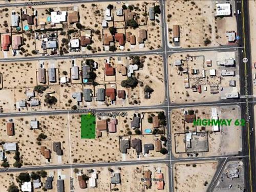 City Lot 29 Palms Power, Water : Twenty Nine Palms : San Bernardino County : California