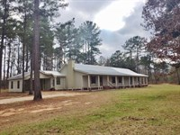 Home & 20 Ac, Large Metal Bldg : Prentiss : Jefferson Davis County : Mississippi