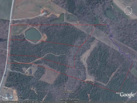 11.5 Acres with Shared Pond : Rutledge : Morgan County : Georgia