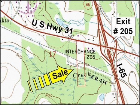 11.7 ac Commercial Site on I-65 : Clanton : Chilton County : Alabama