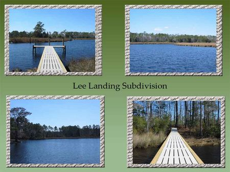 12 Lots Lee Landing Subdivision : New Bern : Pamlico County : North Carolina