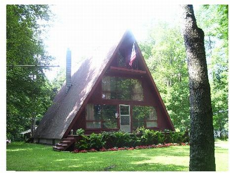 Lakeside Year Round A-Frame : Deposit : Delaware County : New York