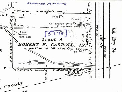 10 acres - Potential Commercial : Fairburn : Fulton County : Georgia