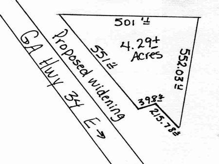 Choice acreage fronting Highway 34 : Sharpsburg : Coweta County : Georgia