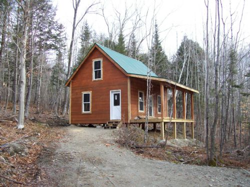 Awesome hunting cabin lot for sale caratunk somerset for Cabin lots