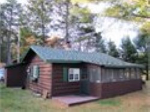 Rustic Cabin On Lg Northwoods Lake : Park Falls : Price County : Wisconsin