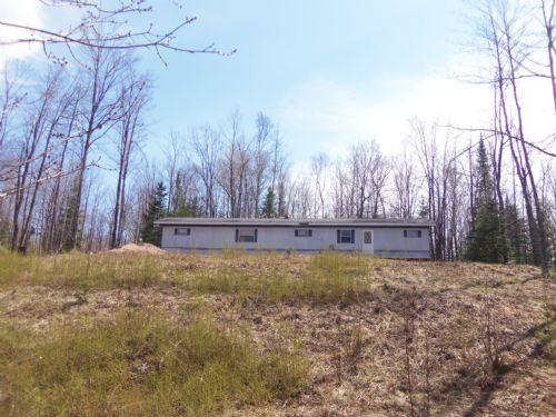 Creek Frontage In Sugar Camp : Sugar Camp : Oneida County : Wisconsin