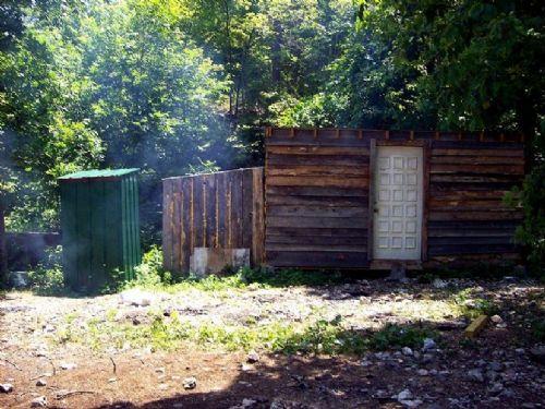 Cabin, Seasonal Creek, Pig Pen : Fremont : Shannon County : Missouri