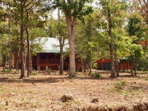 Rustic Log Home, 3+ Acres, Privacy : Mountain View : Stone County : Arkansas