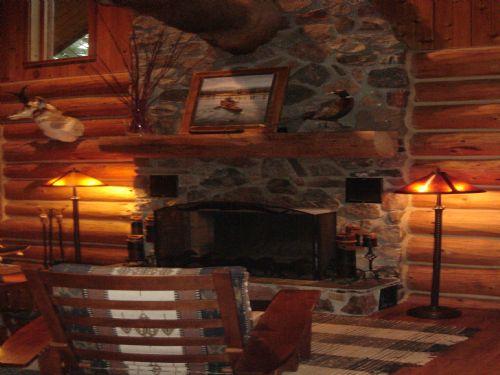 South Branch Log Cabin Get Away : Baldwin : Lake County : Michigan