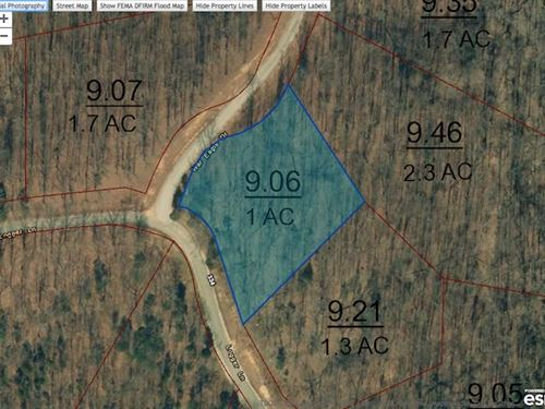 1.0 Acre Corner Lot In Indian Lake : Cedar Grove : Carroll County : Tennessee