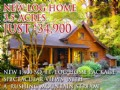 New Log Home 3.5 Acres $34,900